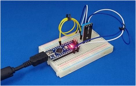 Arduino Nanoと温湿度センサーには DHT11 を採用した組み合わせです。