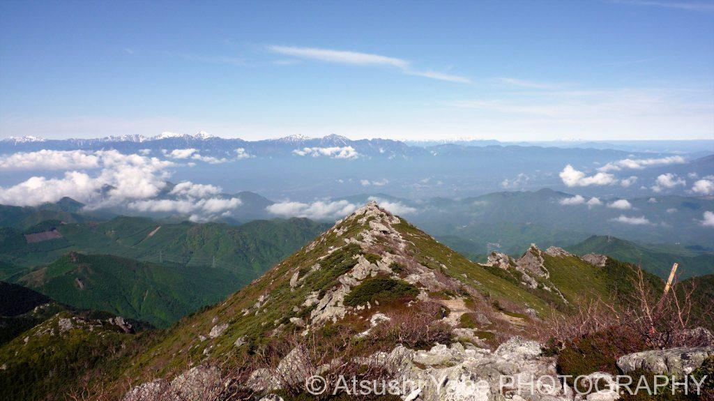金峰山の綺麗な稜線(金峰山)