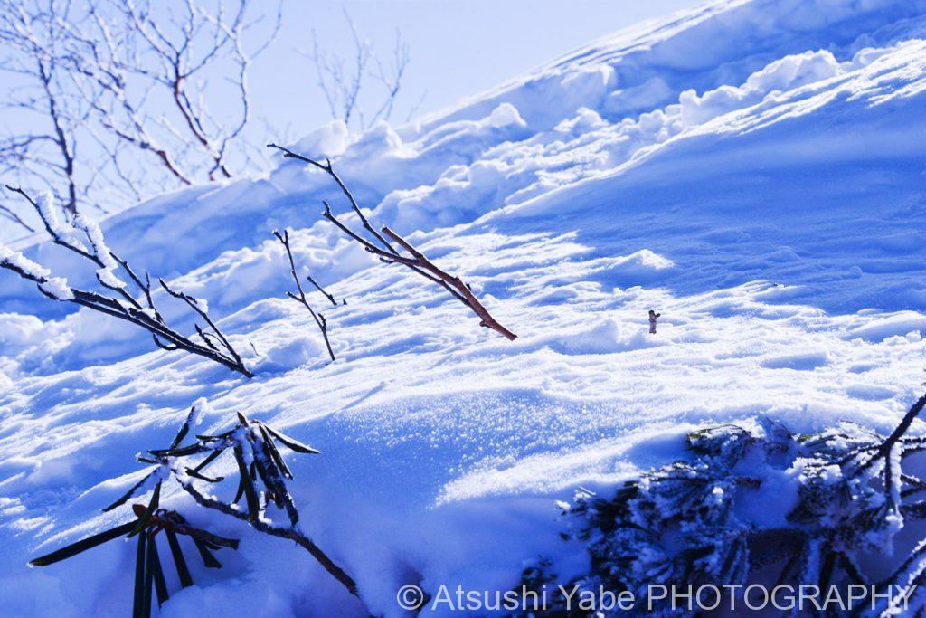 真冬の天狗岳登山 広がる一面の雪